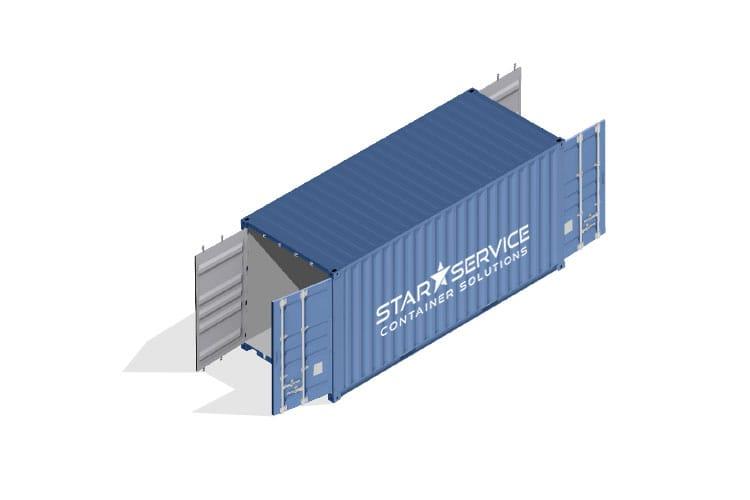 Container vendita noleggio Isobox doppia porta